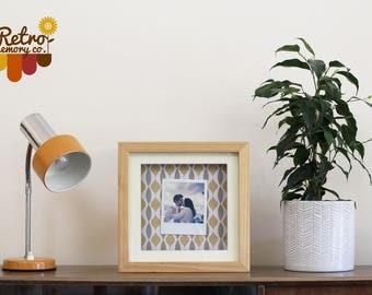 Light wood retro Up-cycled personalised Polaroid frame