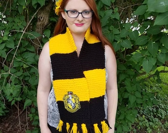 harry potter scarf etsy. Black Bedroom Furniture Sets. Home Design Ideas