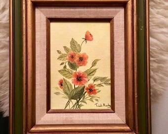 Original Oil painting, Orange Poppy oil painting, Orange Poppies, Poppies oil painting, signed Poppy oil painting