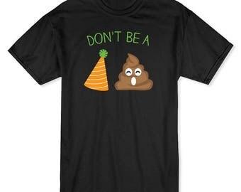 Don't Be A Party Pooper Emoji Men's T-shirt