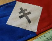 Repro WW2 Handmade Free French FFI Resistance Maquis Armband Brassard Tricolour World War 2
