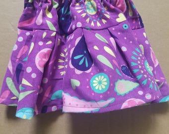 Purple Paisley Twirl Skirt - 3 months