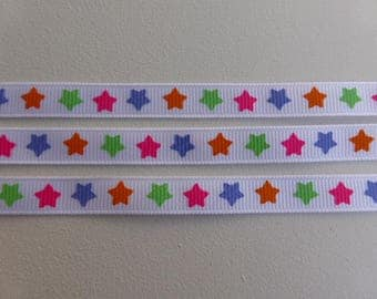"Bright Stars Grosgrain ribbon 9mm / 3/8"" wide x 2 meters"
