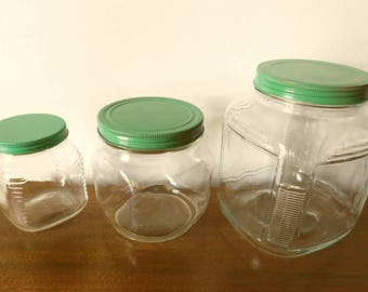 1940s Glass Canister Set
