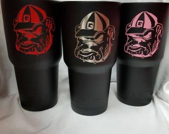 Georgia Bulldogs Custom Powdercoated Yeti Cup