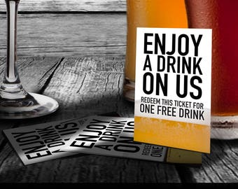 Drink Coupons / Tickets - Holiday or Company Party, Wedding, Shower, Events - DRCP_06