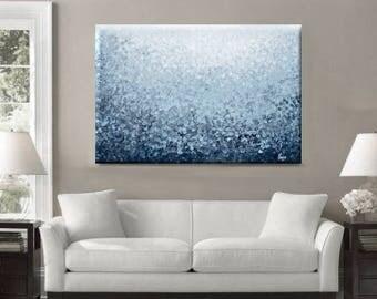 Blue Abstract Painting, Original Large Wall Art, Blue Decor, Blue Abstract Art, Dotted Art, Original Modern Art, Dot Painting Australian Art