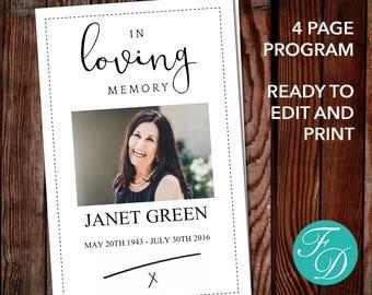 Printable Funeral Program Template Celebration Of Life - Free celebration of life program template