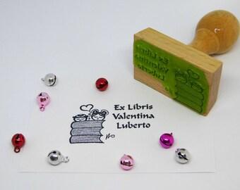 Ex libris stamp with illustration of Valentina Luberto