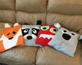 Weighted Childs lap pads/ Fox weighted lap pad/Raccoon/ Koala Bear/Monster lap pad
