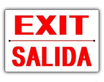 Exit Aluminum Sign