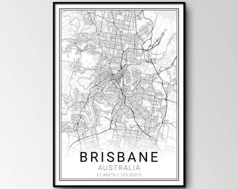 Brisbane city map