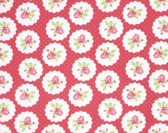 SALE!!! Tanya Whelan - Lulu Roses - Lotti - Red - Free Spirit - Shabby Chic Fabric - Tanya Whelan Fabric - Free Spirit Fabric - Lulu Roses