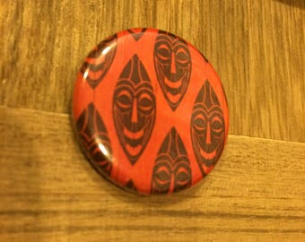 "Tiki Masks 1.25"" Pin"