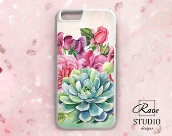 Succulent phone case TPU case iPhone 7 cactus case iPhone case 10 Floral iPhone 5 case iPhone 8 cute case iPhones 6s cases iPhones 7 plus X
