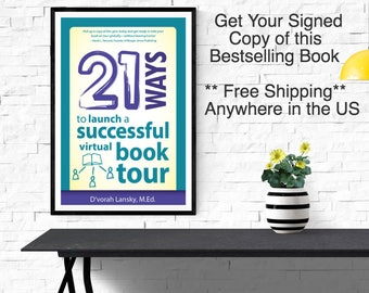 Worksheet Pages - Virtual Book Tour - Book - Signed Copy [with Free Shipping] 21 Ways to Launch a Virtual Book Tour