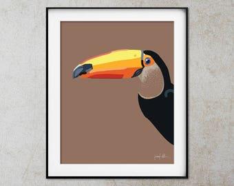 Toucan printable art Bird wall art Printable art Toucan wall art Colorful prints Instant download art Toucan bird print Tropical decor art