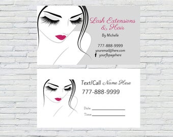 Makeup Artist Business Card   Lashes Business Card, Eyelashes Business Cards, Direct Sales Business Card, Calling Card, Consultant Card,