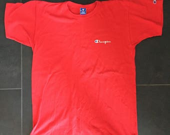 Champion Spell Out Made in USA T-Shirt XL