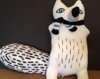 Arctic fox stuffed animal plushie - Fox stuffed toy - Snowy fox art doll - Arctic fox  toys - Polar fox toy – Nursery decor - Christmas gift