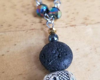 Lava Bead Diffuser Necklace  - Elephant