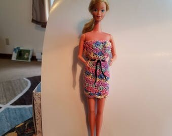 Spring rainbow Barbie dress