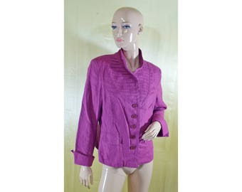 Vintage Philip G women blazer purple linen