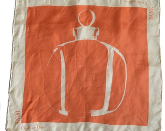 Vintage handkerchief Christian Dior Dune hand rolled perfume