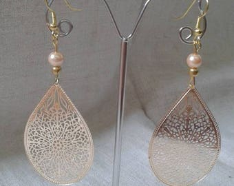 "Earrings ""pretty gold charm"""