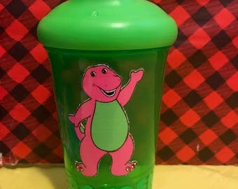 Barney Sippy Cup, Barney & Friends Sippy Cup, Personalized Barney sippy Cup, Personalized Sippy Cup, Gifts for kids, Personalized Barney