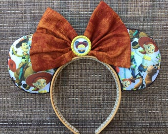 Toy Story inspired Mickey Ears, Minnie Mouse Ears, Mickey Mouse Ears, Disney Ears