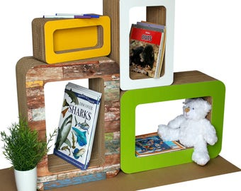 Large Bookbüddii, the customizable bookcase to draw on for children
