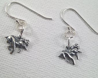 Silver Unicorn Earrings, Unicorn Earrings, 925 Silver Unicorn Earrings, Unicorn Jewellery, Unicorns,