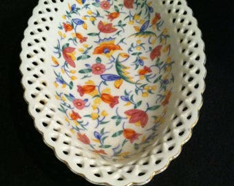 Reticulated Painted Bowl made in Germany