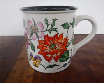Potpourri Press Garden Flowers Coffee Mug Cup