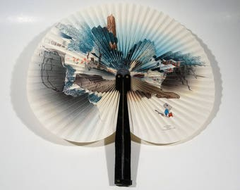 Vintage Folding Fan People's Republic of China