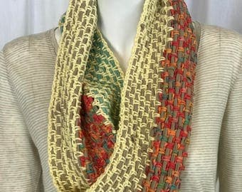 Spring-Inspired Cotton Infinity Scarf