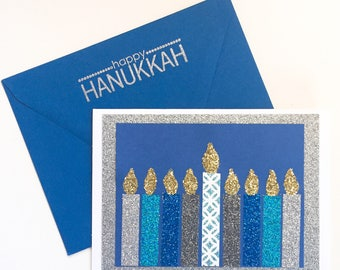 Handmade Happy Hanukkah Card