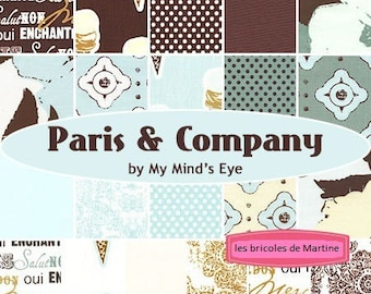 CHARM PACK set of 21 coupons Paris and Company collection