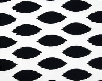 Black and white Ikat upholstery fabric American design