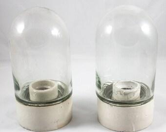 Vintage Porcelain Wall Lamps