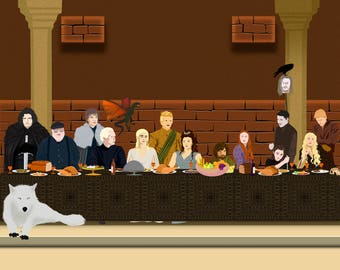 "Last Supper ""Game of Thrones"" Art Print"