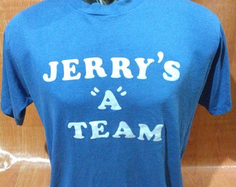 Vintage Jerrys A Team Tshirts Vintage Poly Cotton Tees Sportswear Made in USA