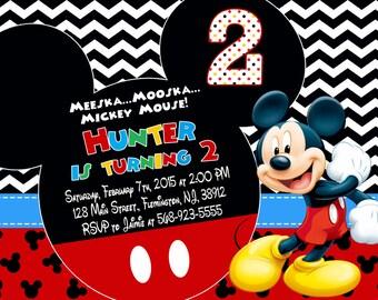Mickey Mouse Invitation Birthday Party