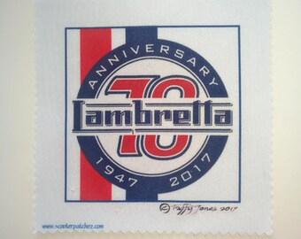 Lambretta Scooter 70th Anniversary Sew on Patch