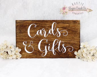 Cards and Gifts Wedding Sign, Cards and Gifts, Sign, Wedding Sign, Reception Sign, Rustic Wedding, Shabby Chic Wedding, Here Comes The Bride