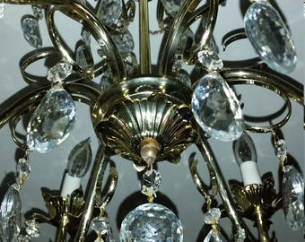 Classic Crystal Underwriter Laboratories C485073 Schonbek & Co. Inc. Crystal Chandelier. Used in Very Good Condition.