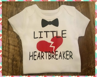 Preemie, Newborn,  Baby Onesie Bodysuit or T-Shirt For That Lil *HEARTBREAKER* In The Family, Perfect Gift Or For Your Lil One