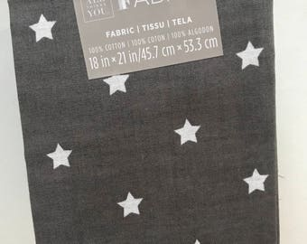fabric fat quarter, Nordic stars, cotton fabric, sewing supplies, quilting, 100% cotton