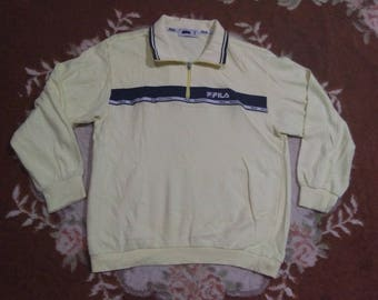 vintage FILA POLOS LONG sleeve pullover size S